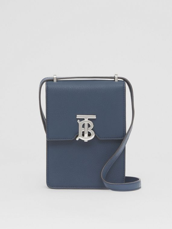 Grainy Leather Robin Bag in Ash Blue