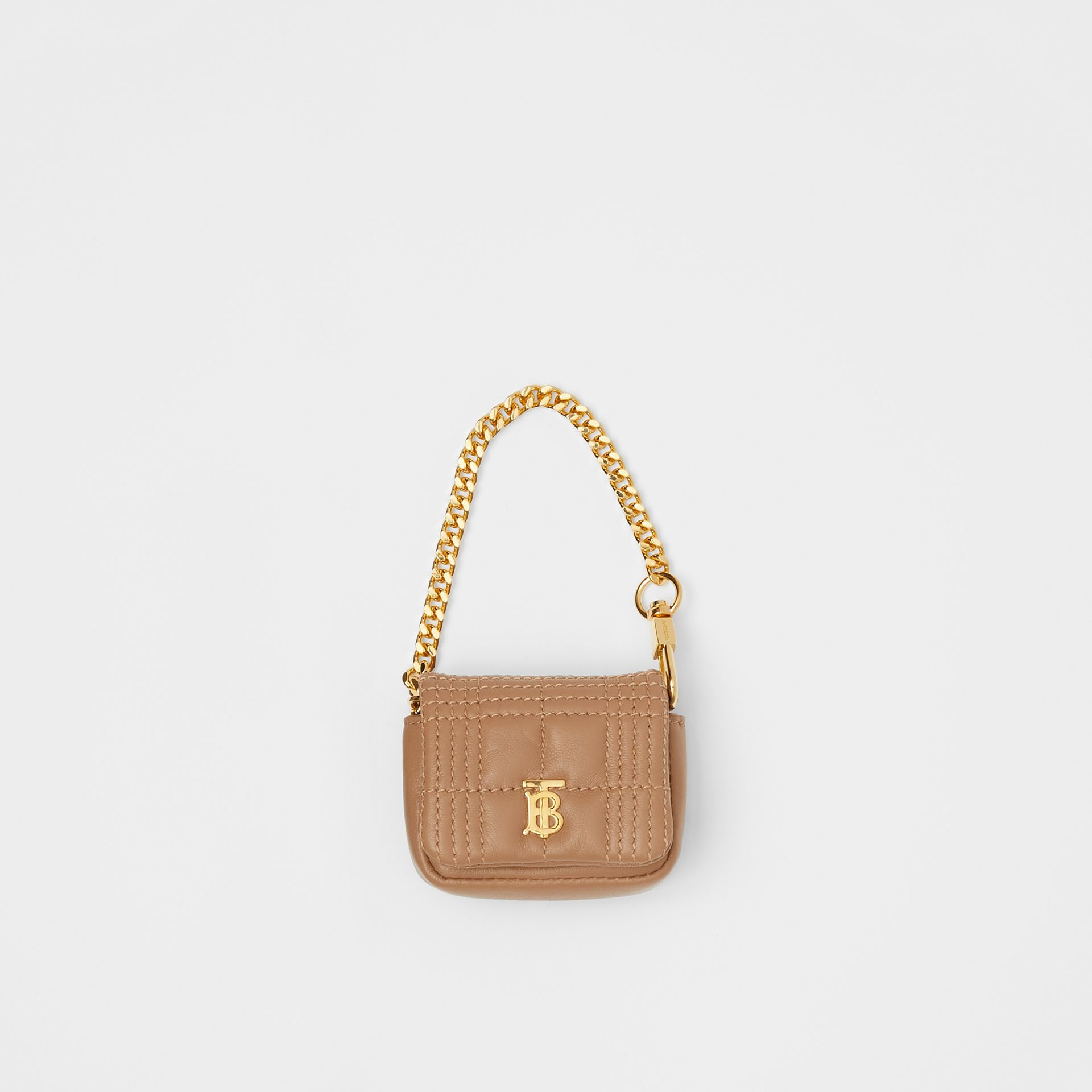 Quilted Lambskin AirPods Pro Case in Camel - Women | Burberry - gallery image 0