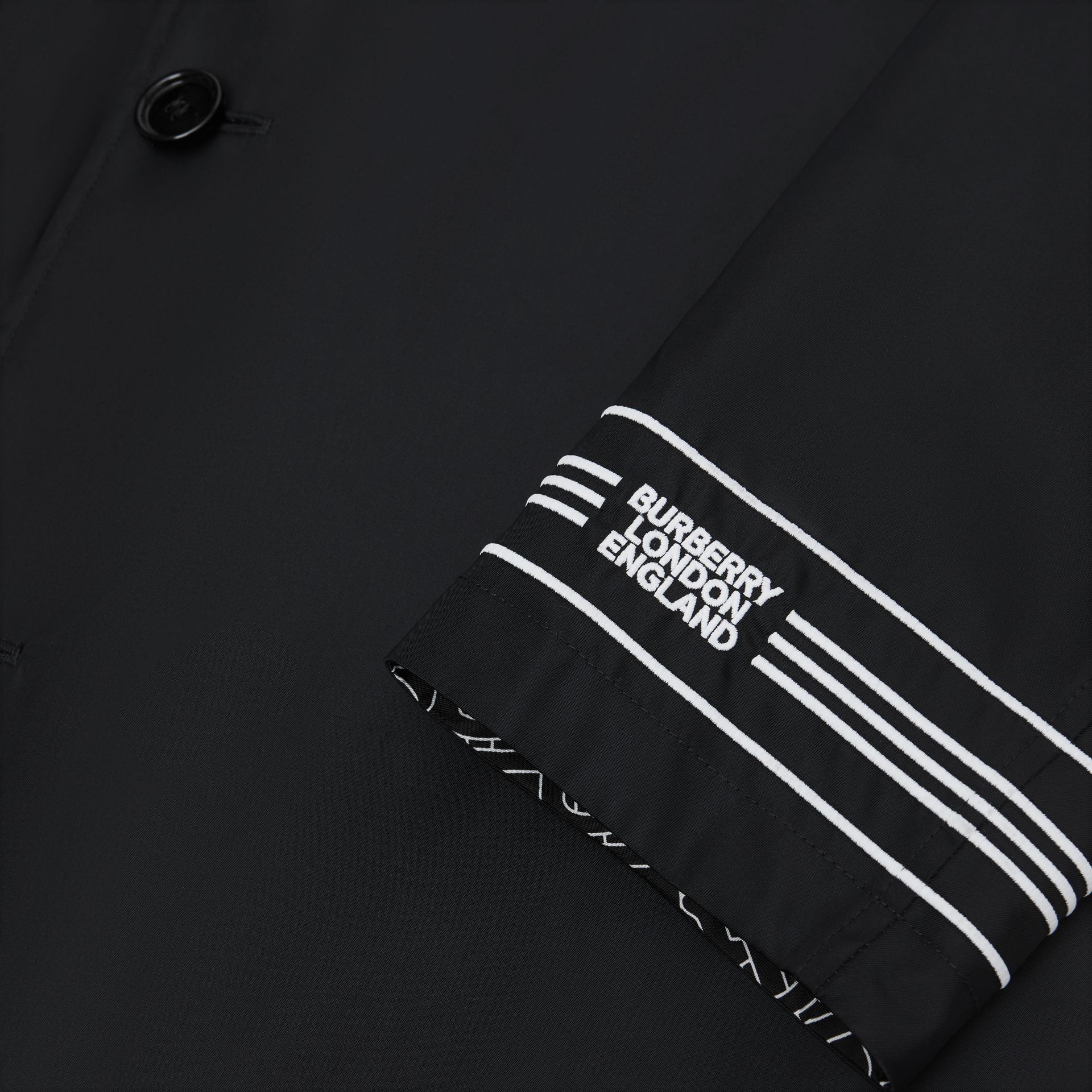 Reversible Logo Embroidered ECONYL® Car Coat - Men | Burberry - gallery image 11