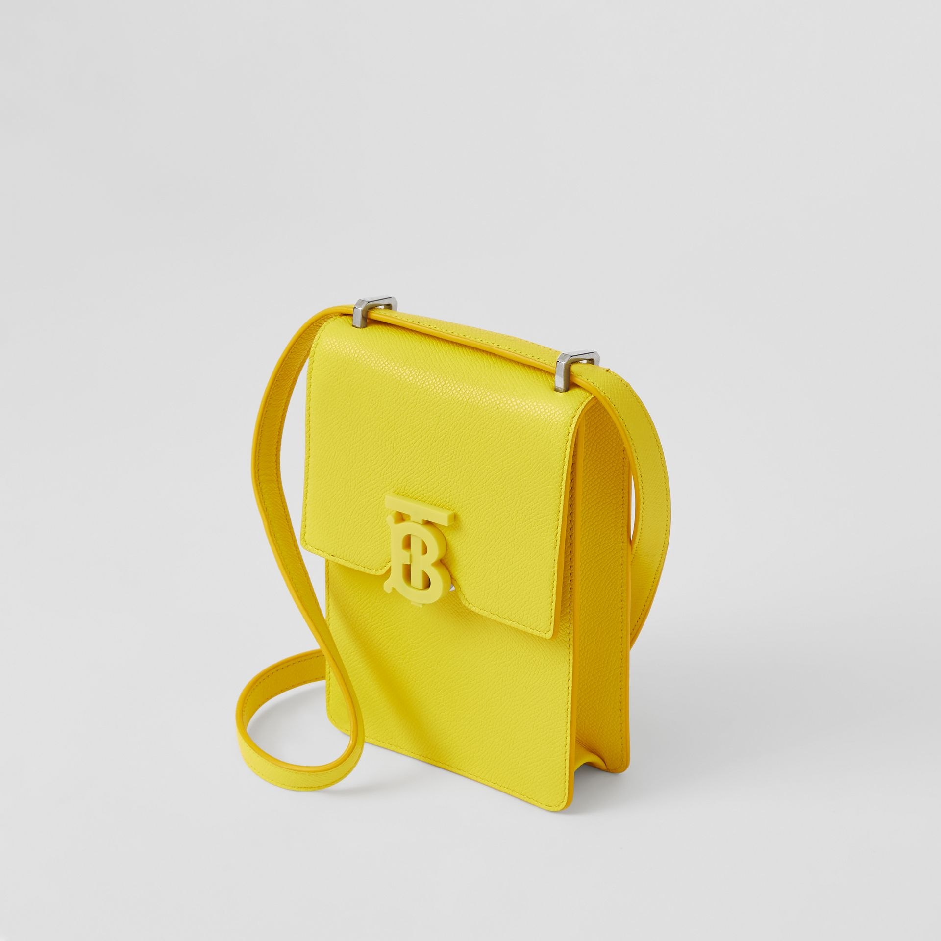 Grainy Leather Robin Bag in Marigold Yellow | Burberry - gallery image 4