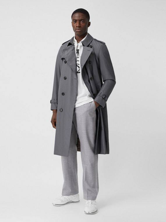 Trench Heritage long The Chelsea (Gris Moyen)