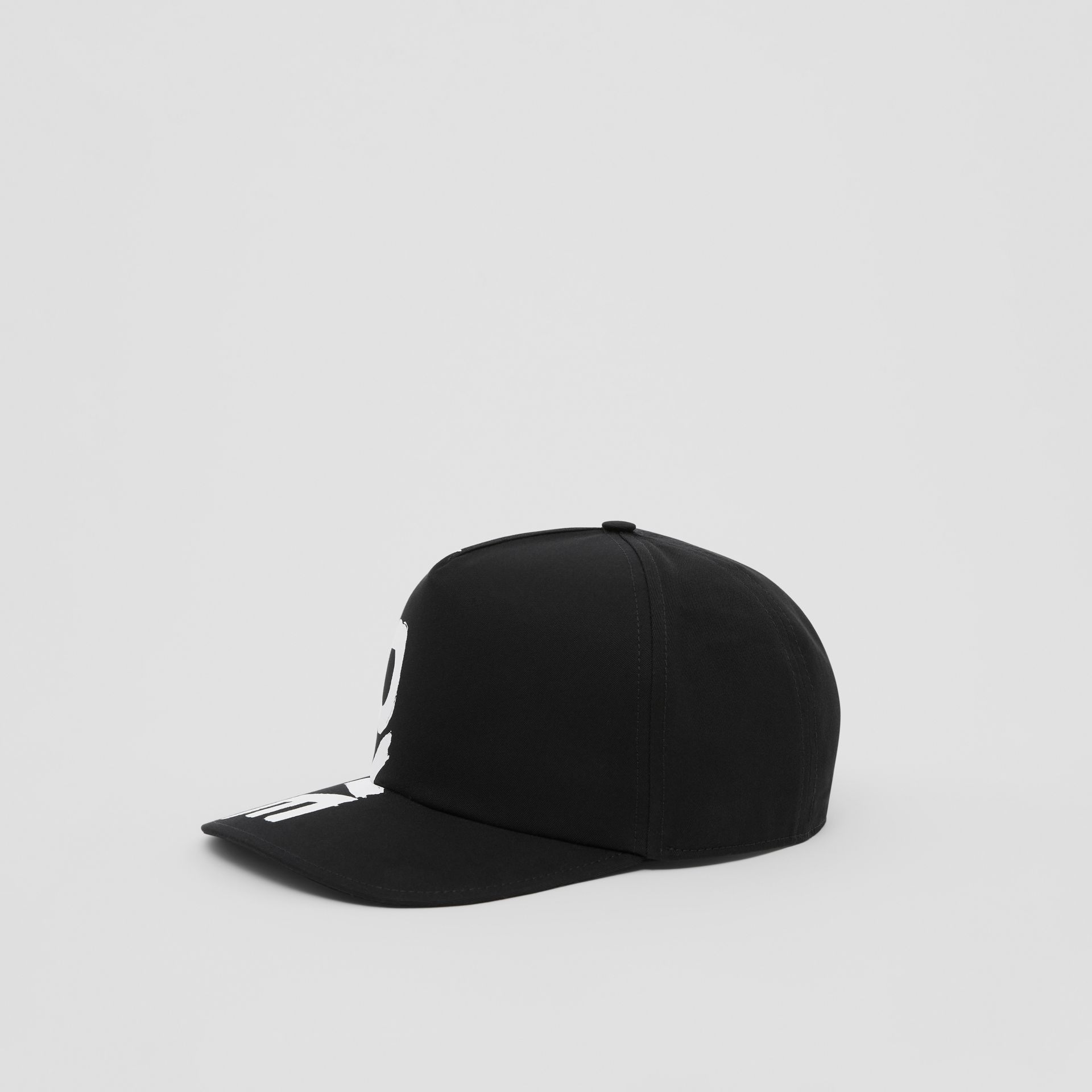 Love Print Cotton Gabardine Baseball Cap in Black | Burberry Canada - gallery image 4