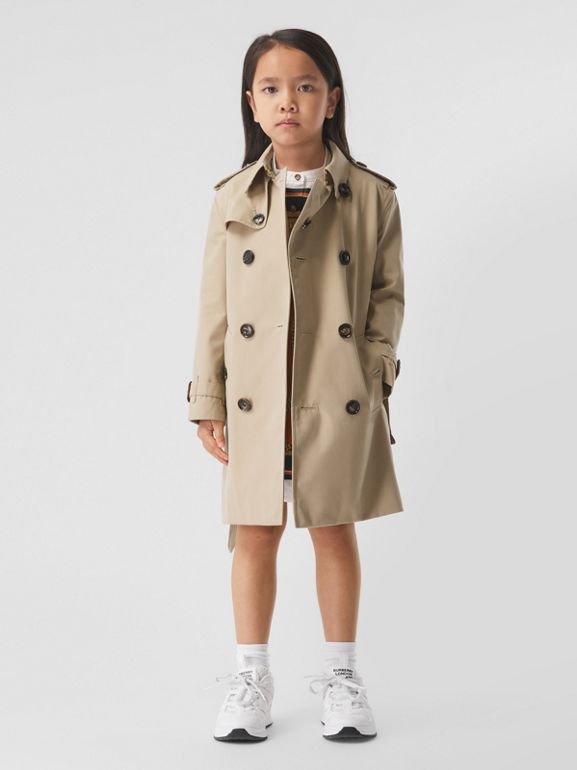 Cotton Gabardine Trench Coat in Honey | Burberry - cell image 1
