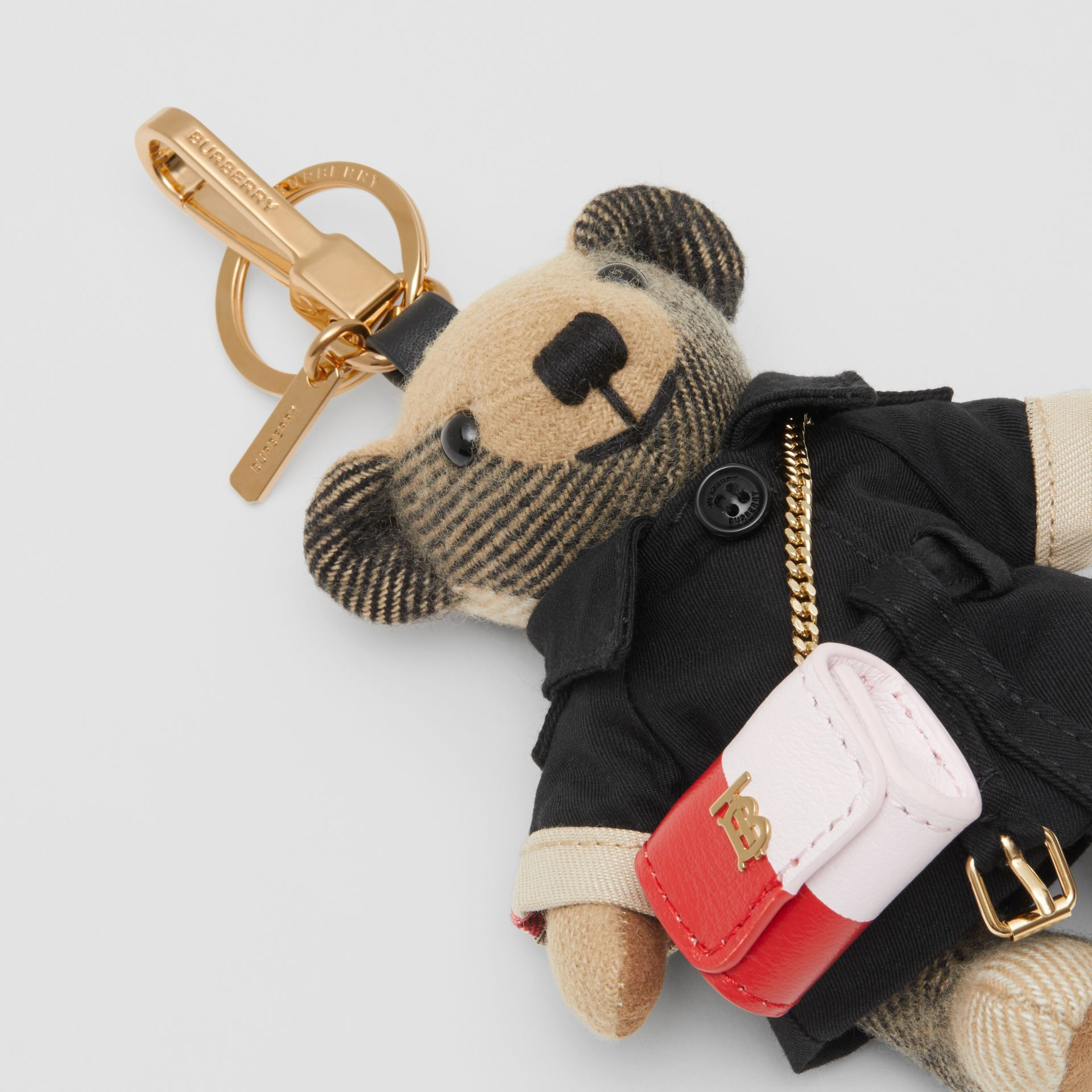 Thomas Bear Charm with Lola Bag in Archive Beige - Women | Burberry Australia - gallery image 1