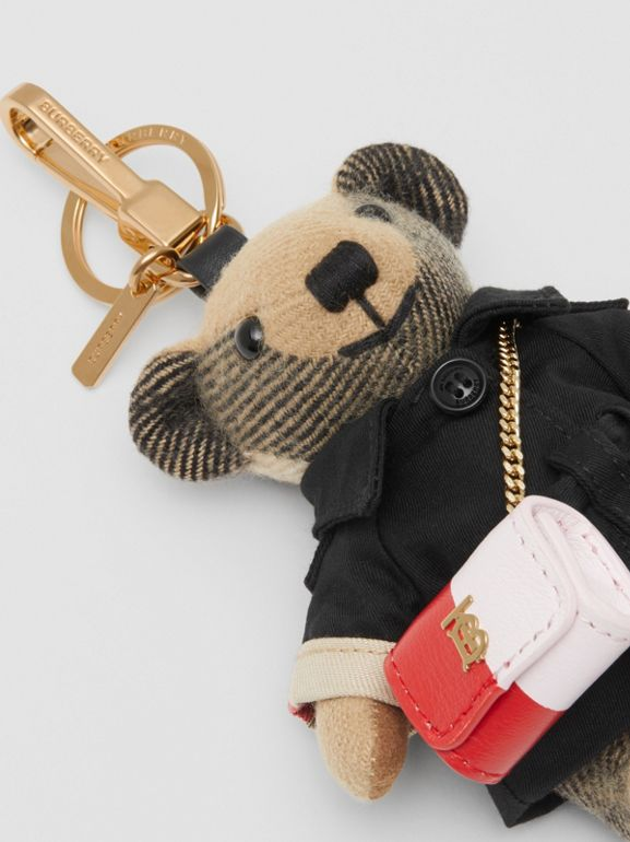 Thomas Bear Charm with Lola Bag in Archive Beige - Women | Burberry Australia - cell image 1