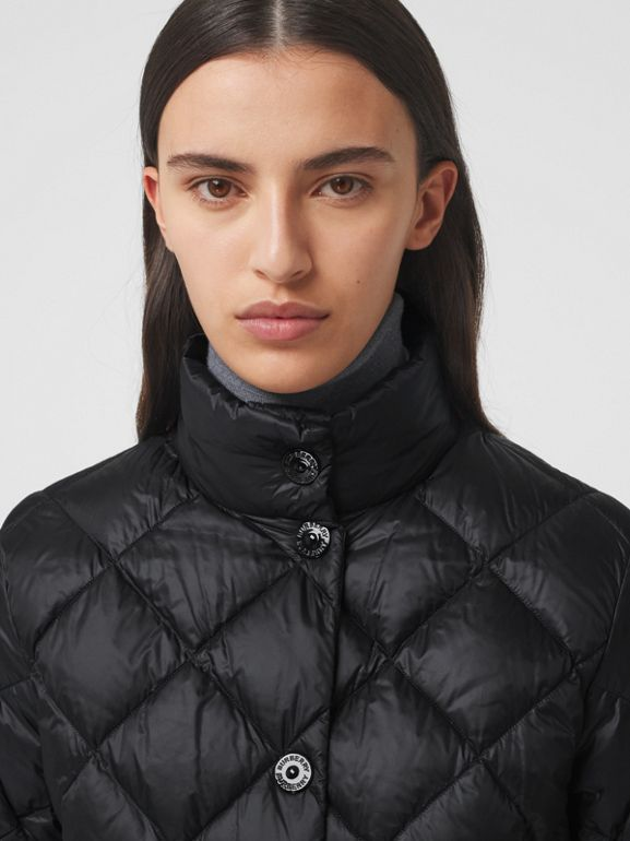 Diamond Quilted Down-filled Jacket in Black - Women | Burberry - cell image 1