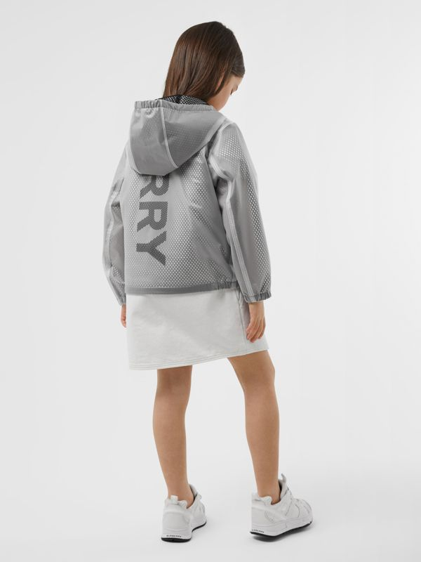 Logo Print Lightweight Hooded Jacket in Clear | Burberry - cell image 2