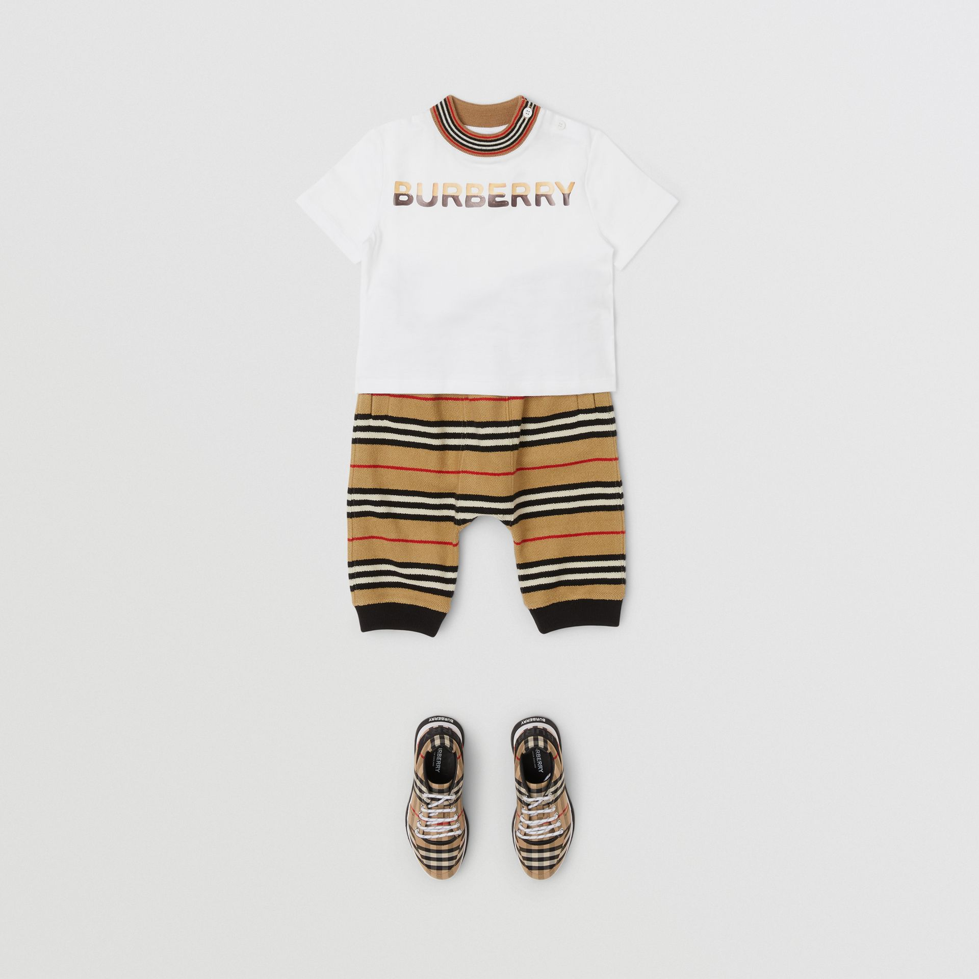 Confectionery Logo Print Cotton T-shirt in White - Children | Burberry - gallery image 2