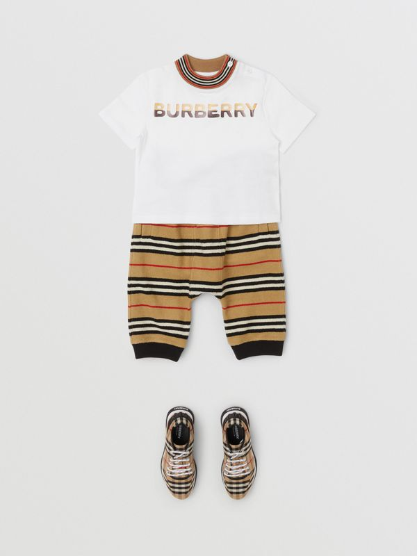 Confectionery Logo Print Cotton T-shirt in White - Children | Burberry - cell image 2
