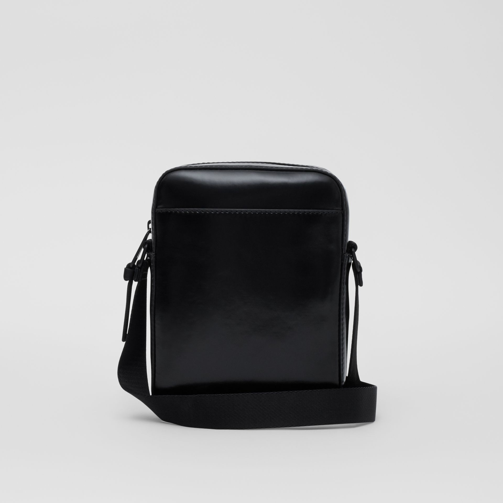 Logo and Icon Stripe Print Crossbody Bag in Black - Men | Burberry United Kingdom - gallery image 5