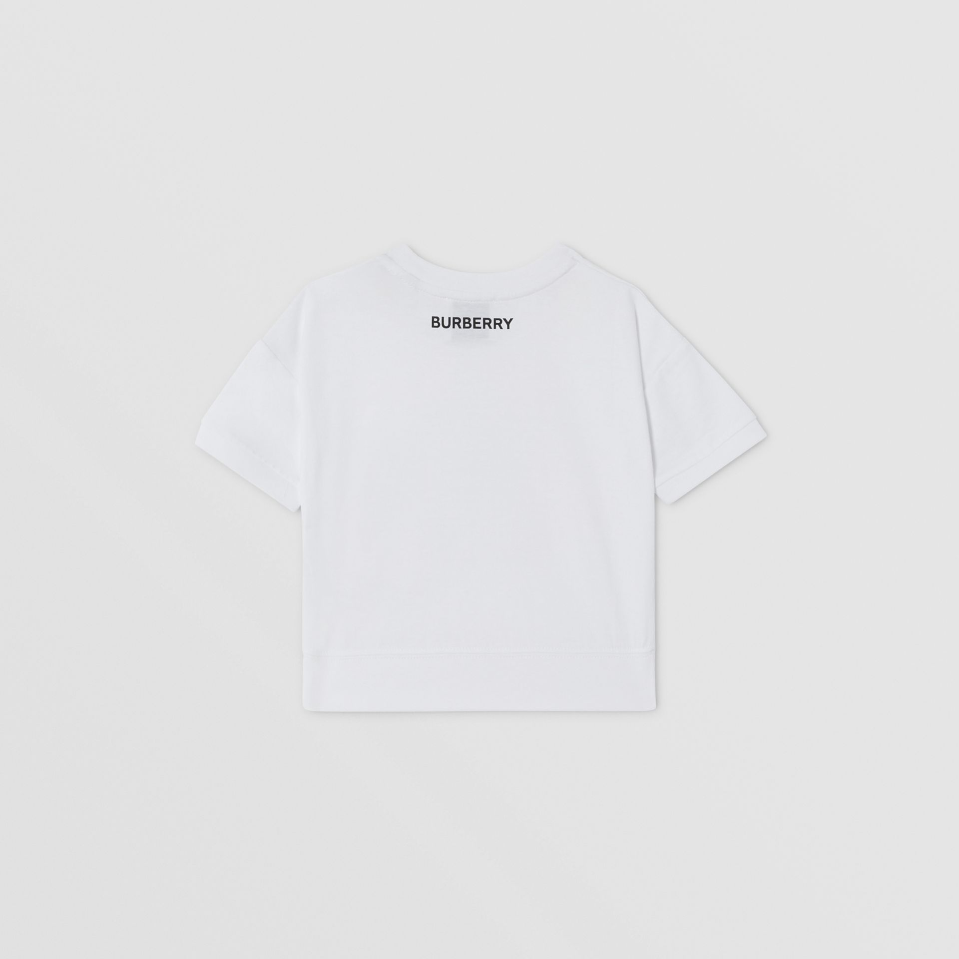 Confectionery Print Cotton T-shirt in White - Children   Burberry - gallery image 3