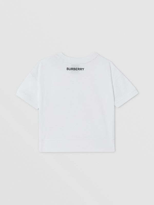 Confectionery Print Cotton T-shirt in White - Children | Burberry - cell image 3
