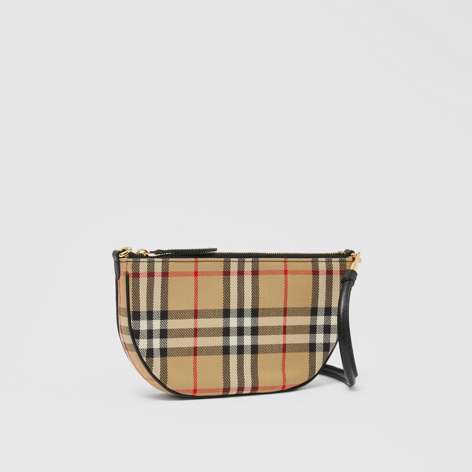 Vintage Check Cotton Olympia Pouch in Archive Beige - Women | Burberry United Kingdom - gallery image 6
