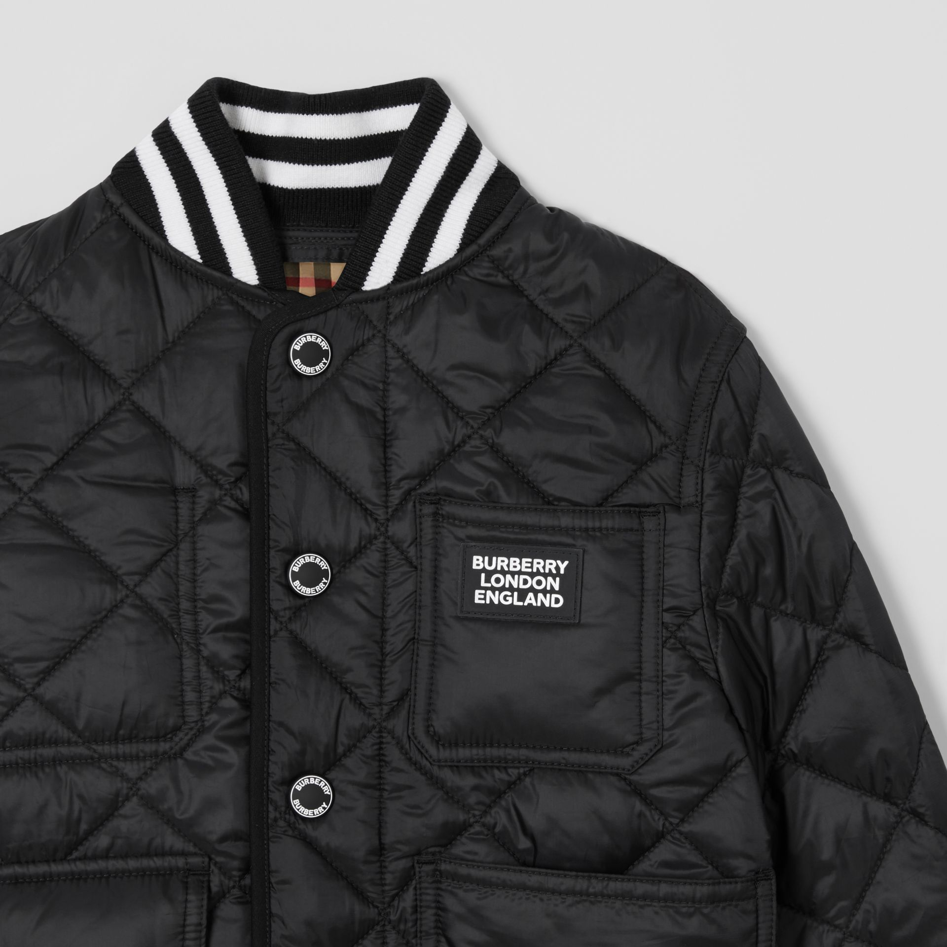 Recycled Polyester Diamond Quilted Jacket | Burberry United Kingdom - gallery image 5