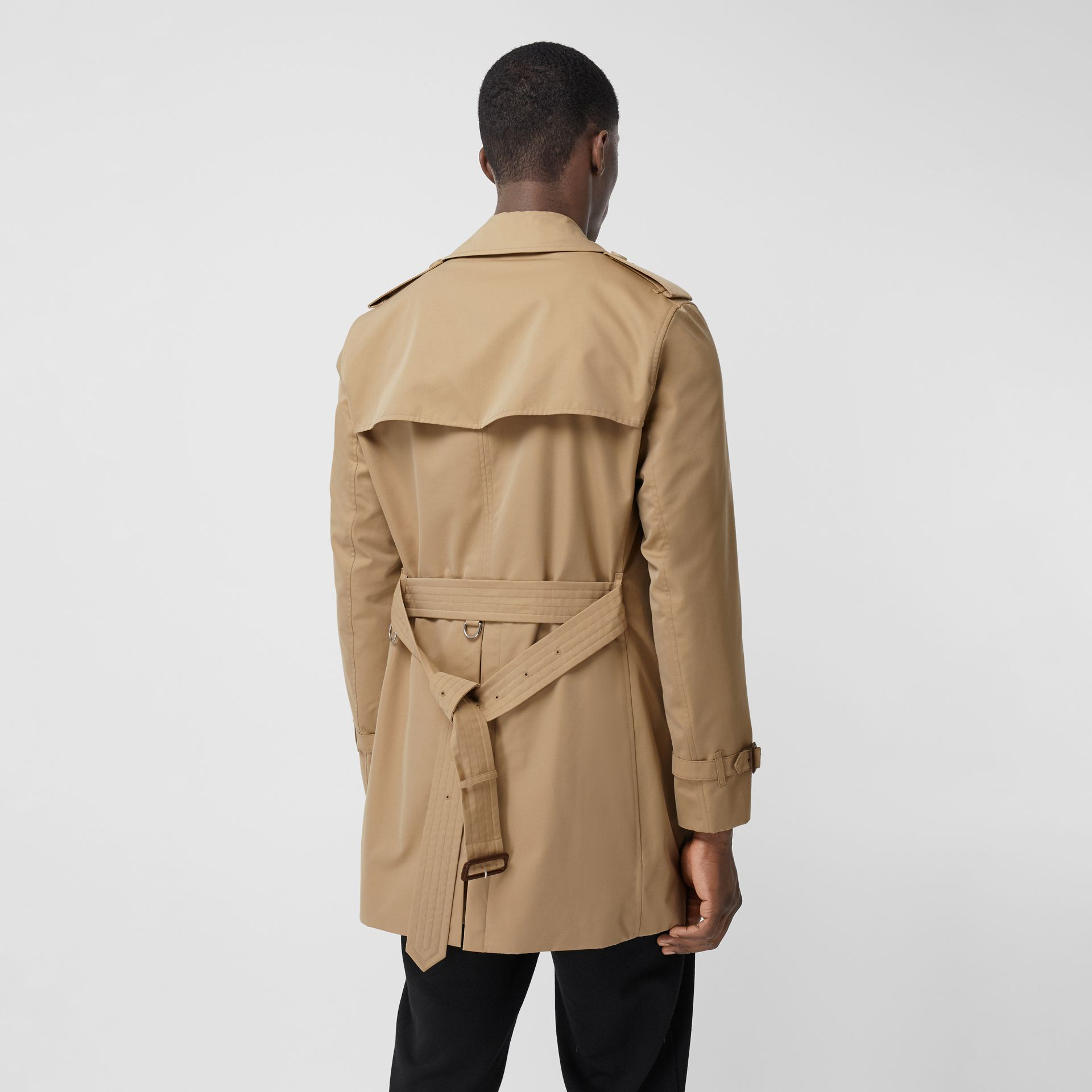 The Short Wimbledon Trench Coat in Honey - Men | Burberry Australia - gallery image 2