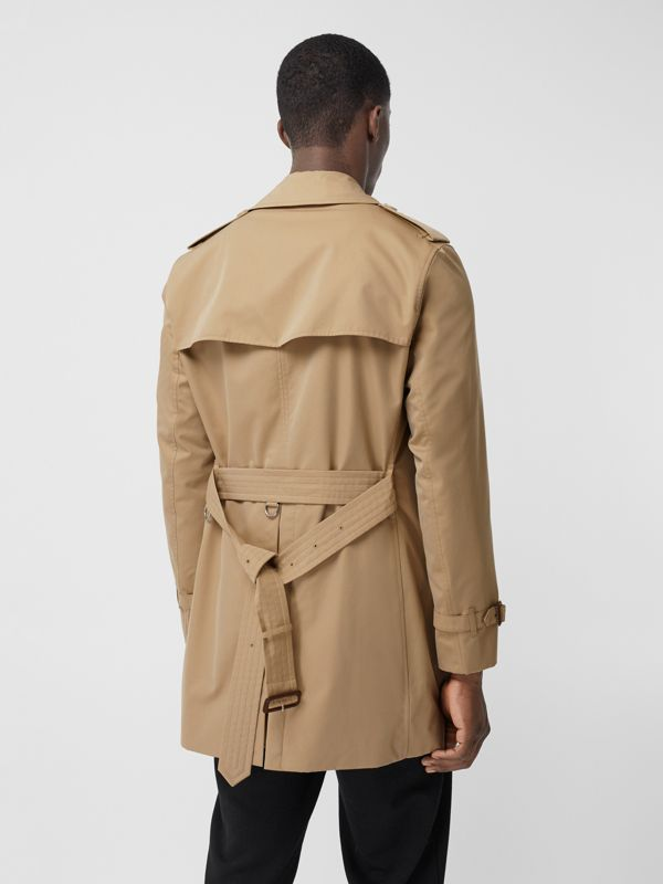 The Short Wimbledon Trench Coat in Honey - Men | Burberry Australia - cell image 2