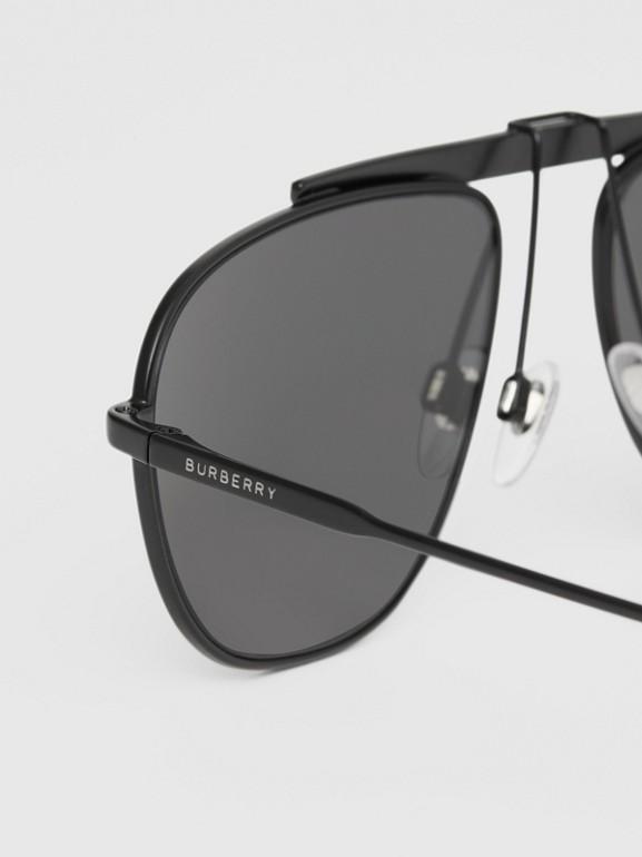 Pilot Sunglasses in Matte Black - Men | Burberry - cell image 1