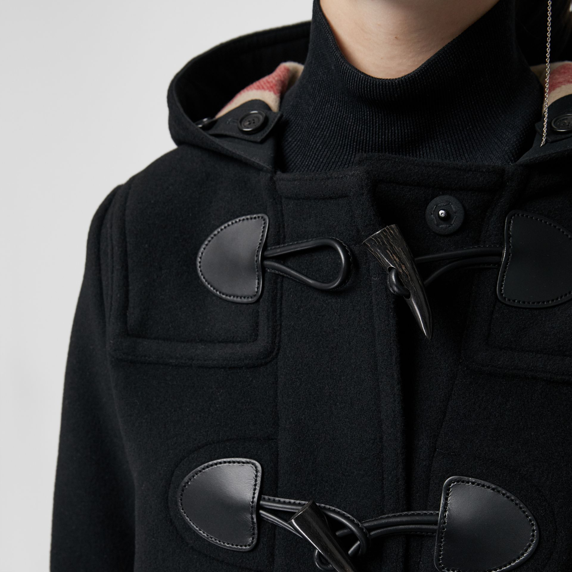 The Mersey Duffle Coat in Black - Women | Burberry - gallery image 4