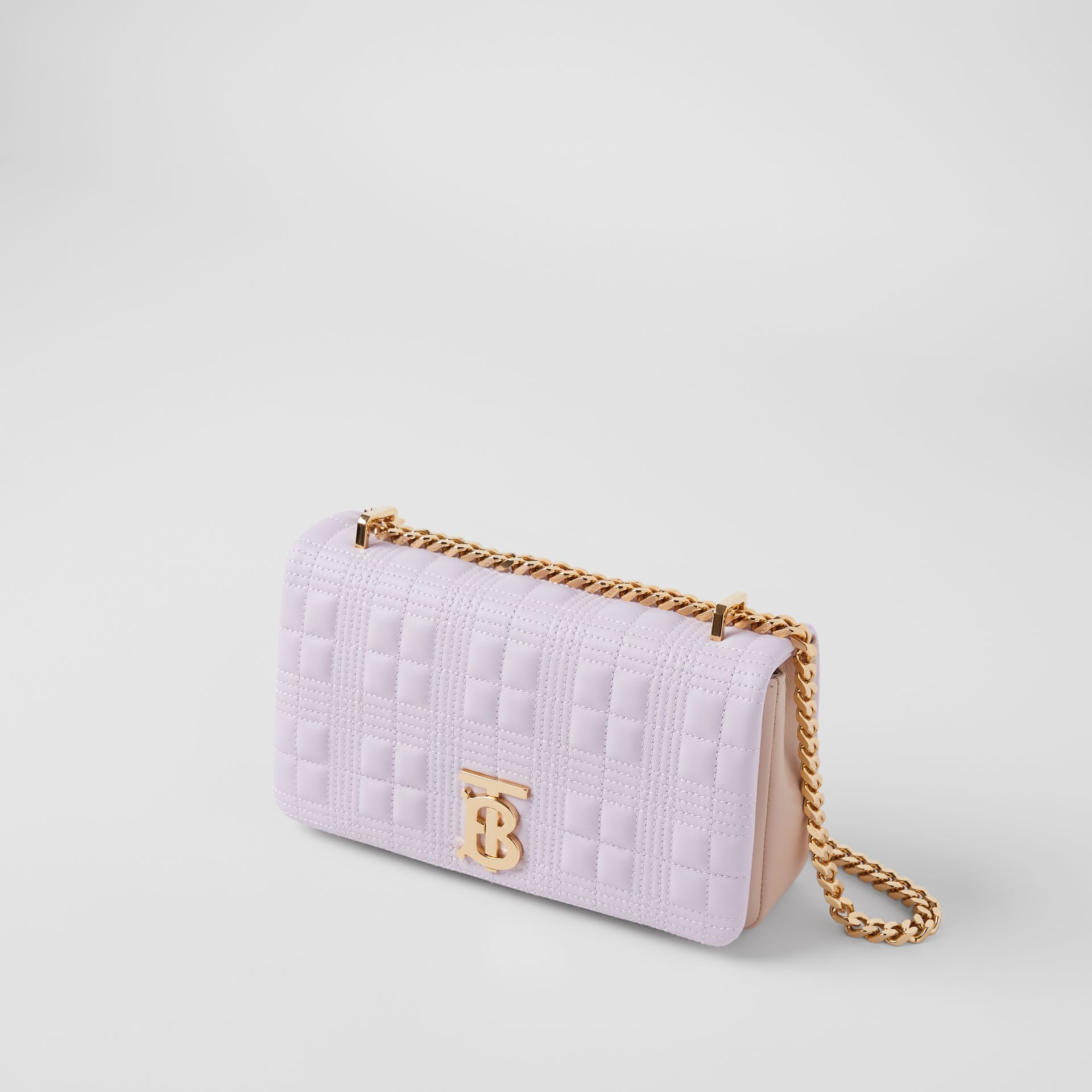 Small Quilted Two-tone Lambskin Lola Bag in Pale Thistle/soft Fawn | Burberry United Kingdom - gallery image 3