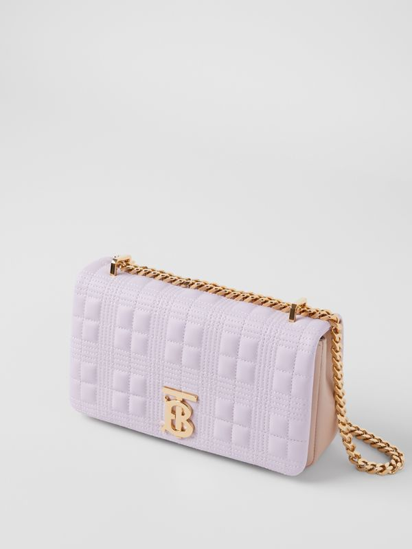 Small Quilted Two-tone Lambskin Lola Bag in Pale Thistle/soft Fawn - Women | Burberry - cell image 3