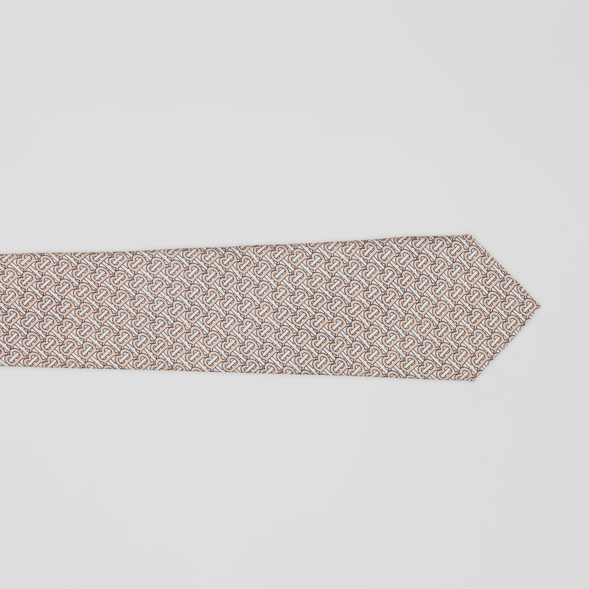 Classic Cut Monogram Silk Jacquard Tie in Blush Pink - Men | Burberry - gallery image 1