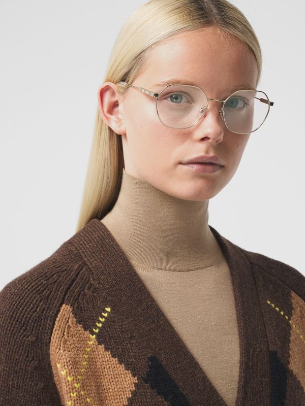 Geometric Optical Frames in Pearl - Women | Burberry - cell image 2