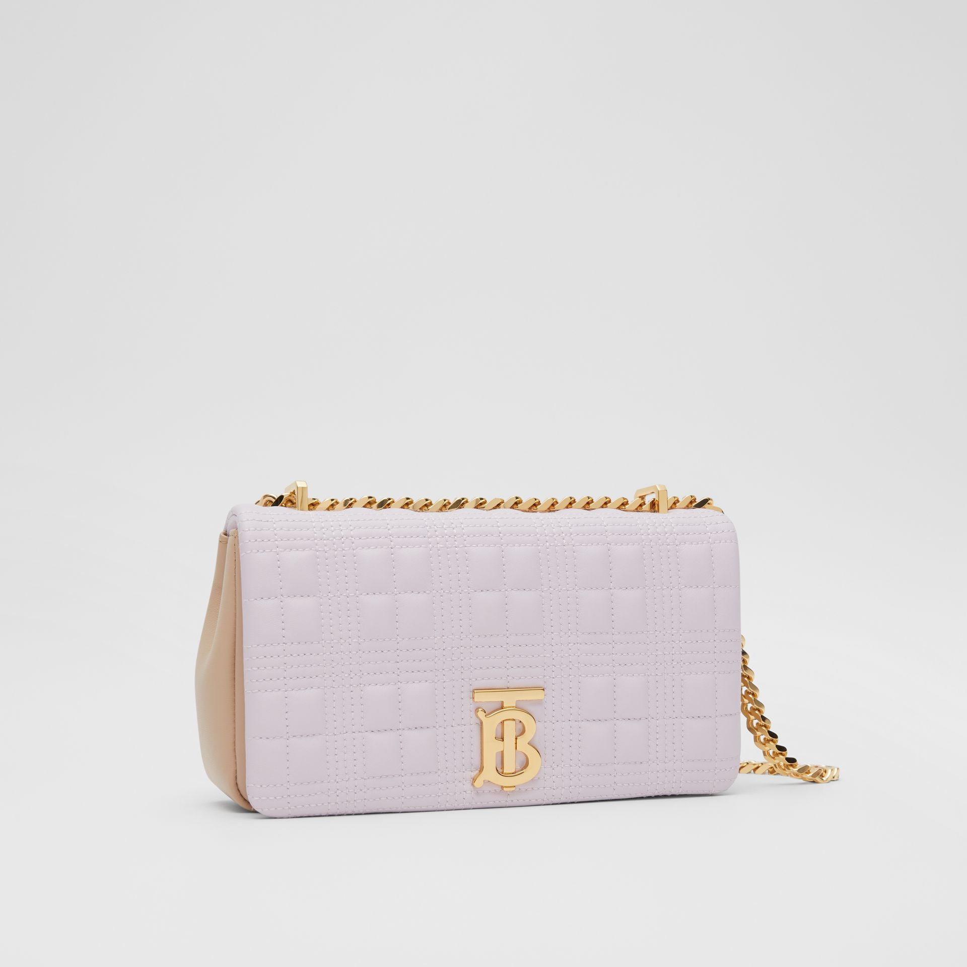 Small Quilted Two-tone Lambskin Lola Bag in Pale Thistle/soft Fawn | Burberry United Kingdom - gallery image 6