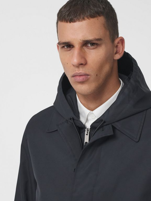 Car coat in nylon con logo stampato (Nero) - Uomo | Burberry - cell image 1