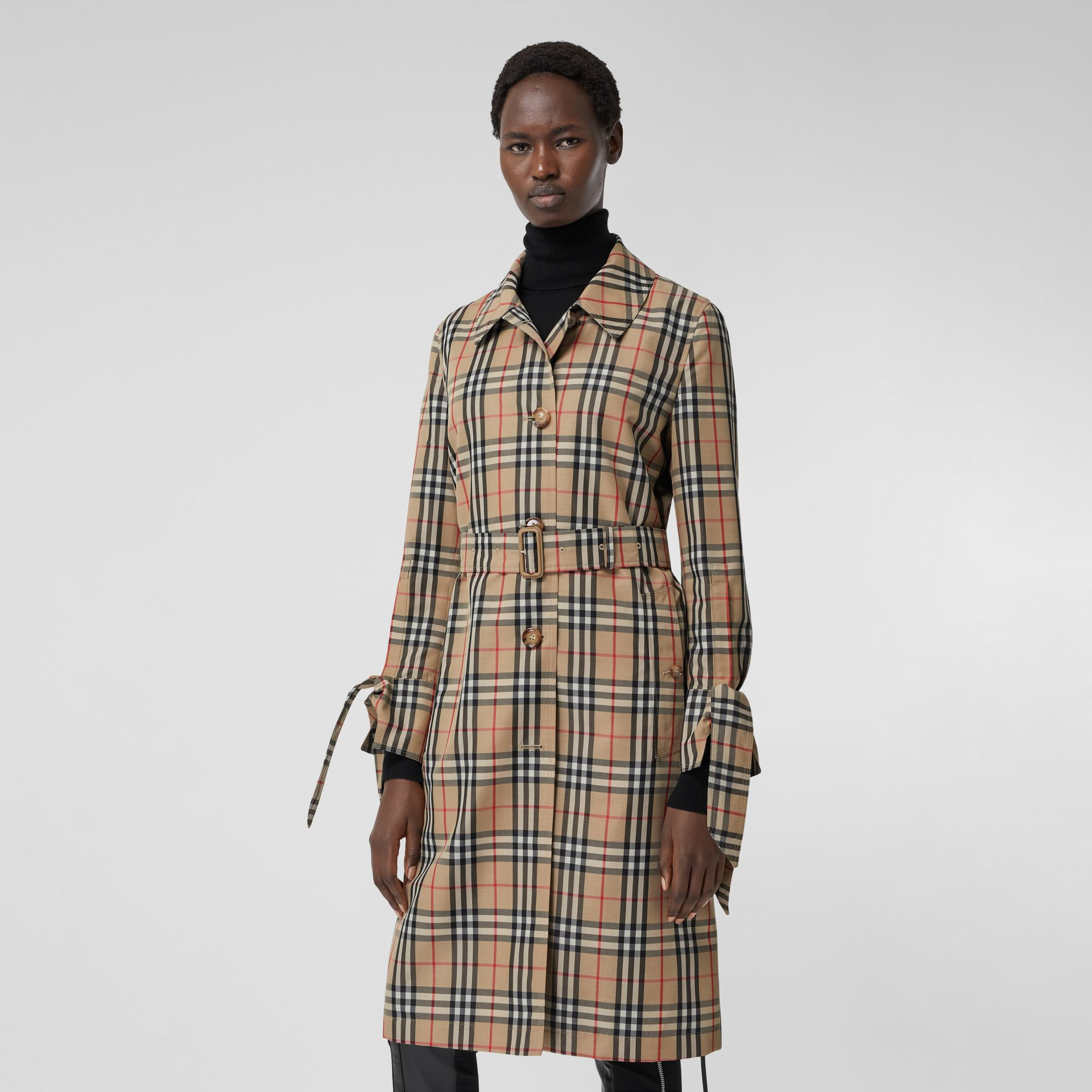 Vintage Check Recycled Polyester Car Coat - Women | Burberry - gallery image 7