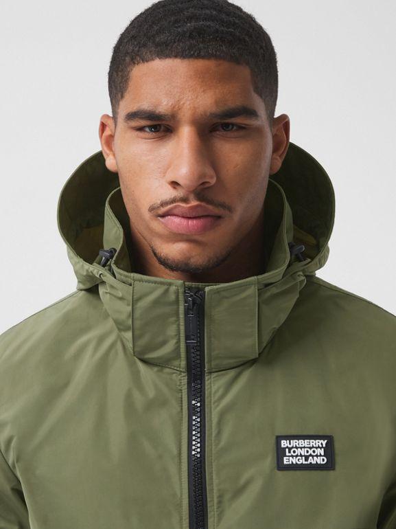 Packaway Hood Shape-memory Taffeta Jacket in Olive - Men | Burberry - cell image 1