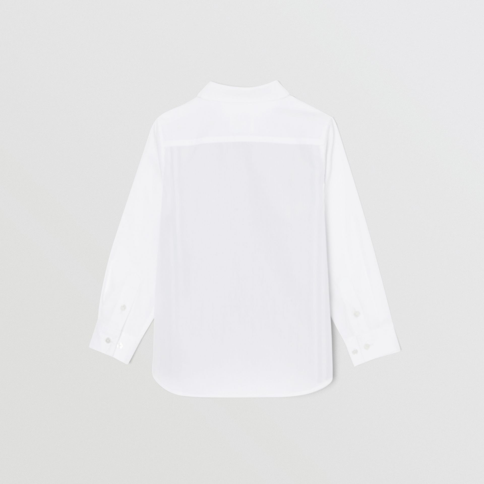 Icon Stripe Panel Stretch Cotton Shirt in White | Burberry United States - gallery image 3
