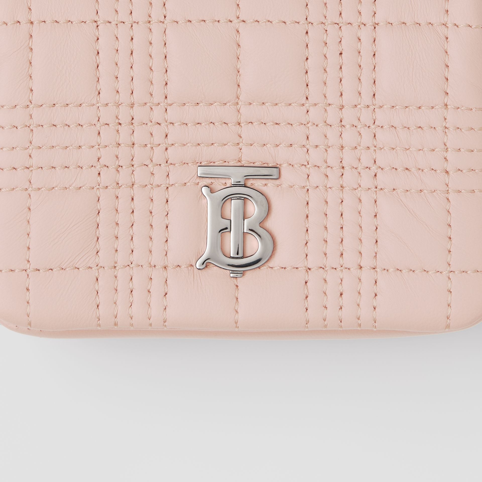 Micro Quilted Lambskin Lola Bag in Blush Pink - Women | Burberry United Kingdom - gallery image 1