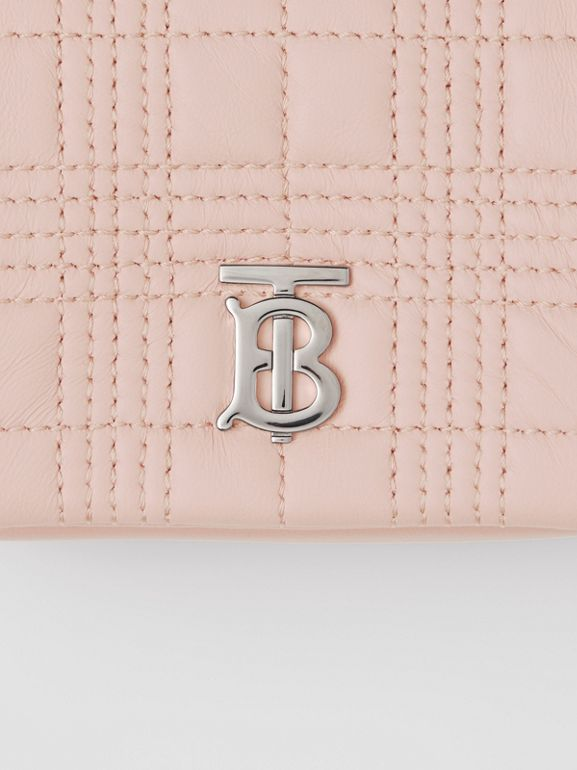 Micro Quilted Lambskin Lola Bag in Blush Pink - Women | Burberry United Kingdom - cell image 1