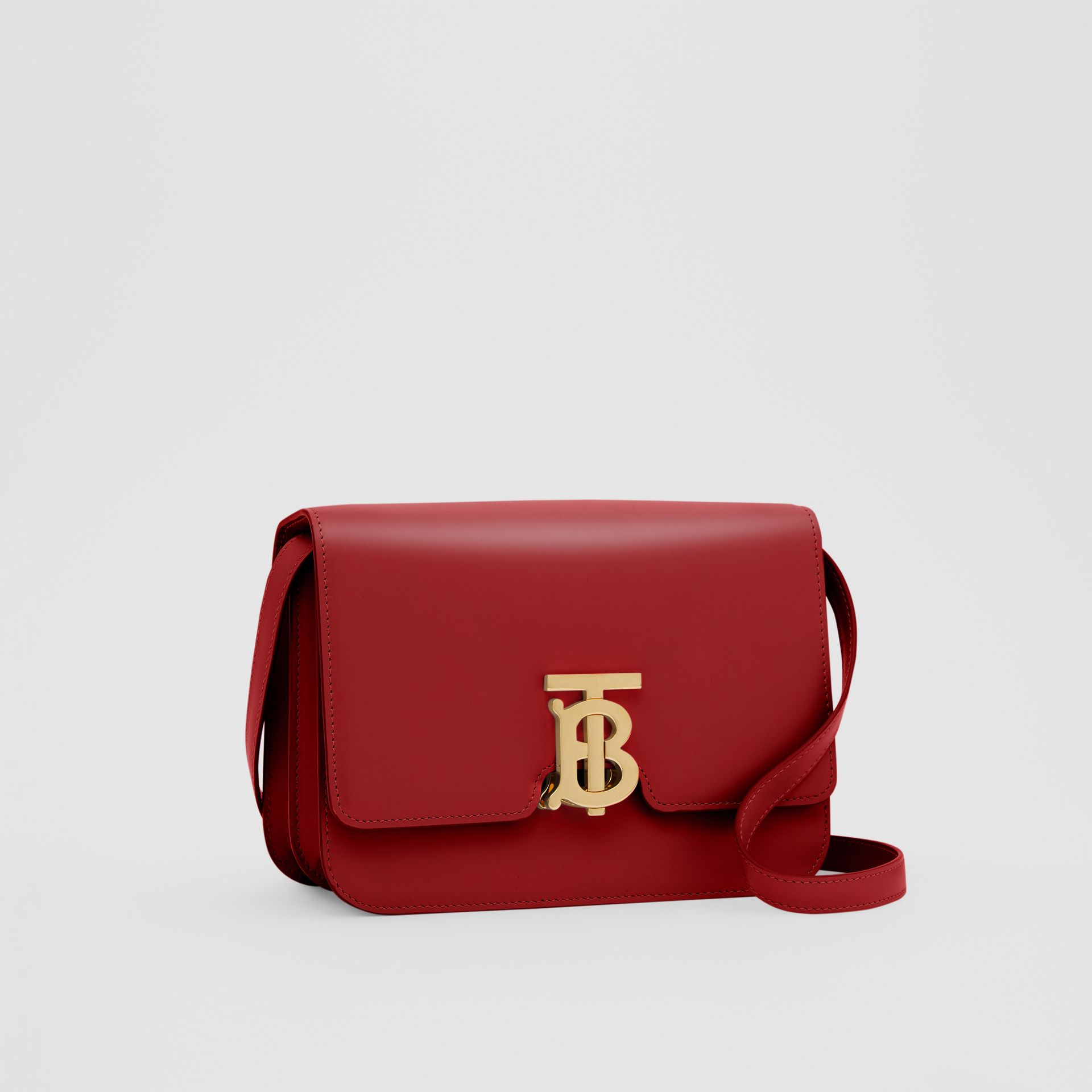 Small Leather TB Bag in Dark Carmine - Women | Burberry - gallery image 4