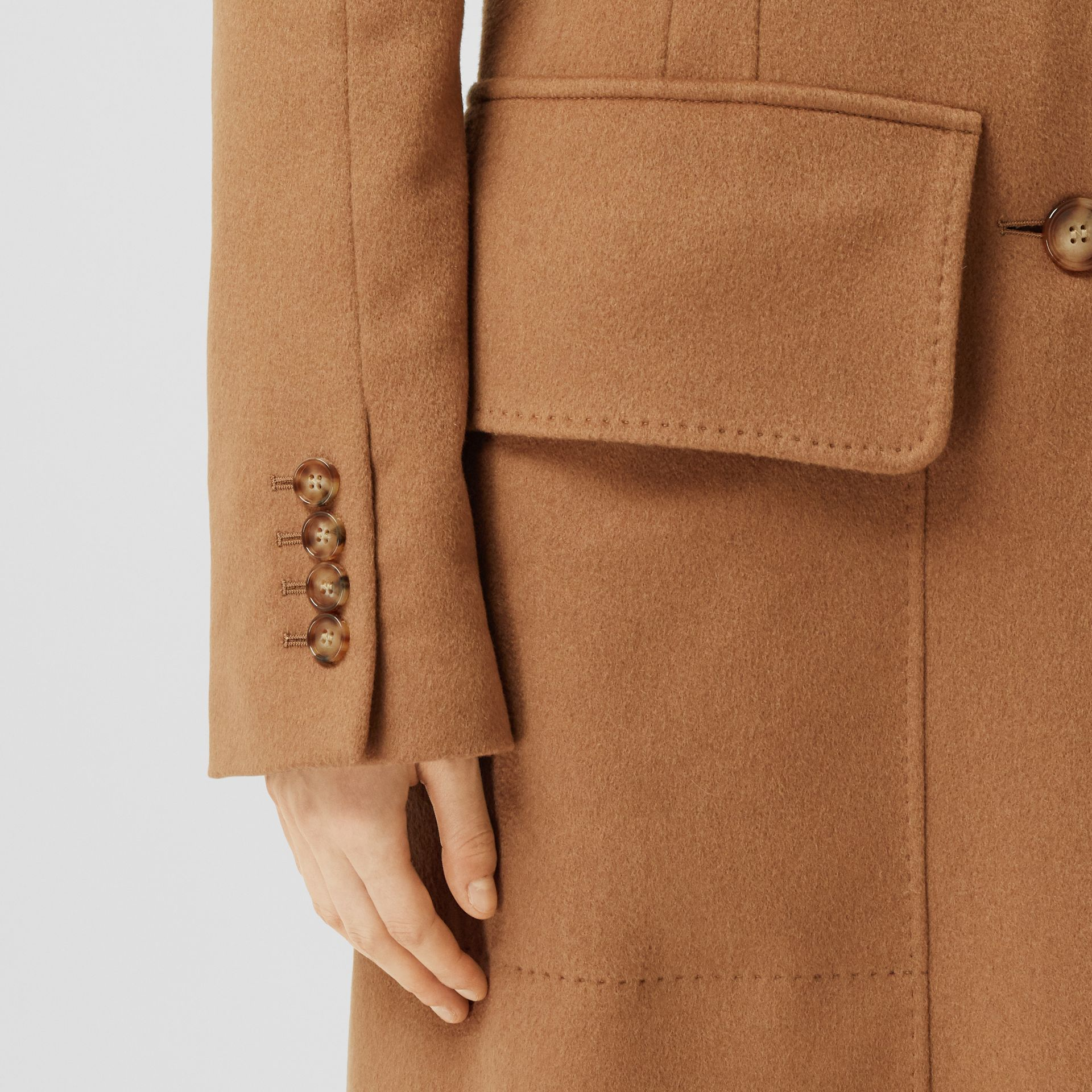 Cashmere Tailored Coat in Bronze - Women | Burberry - gallery image 5