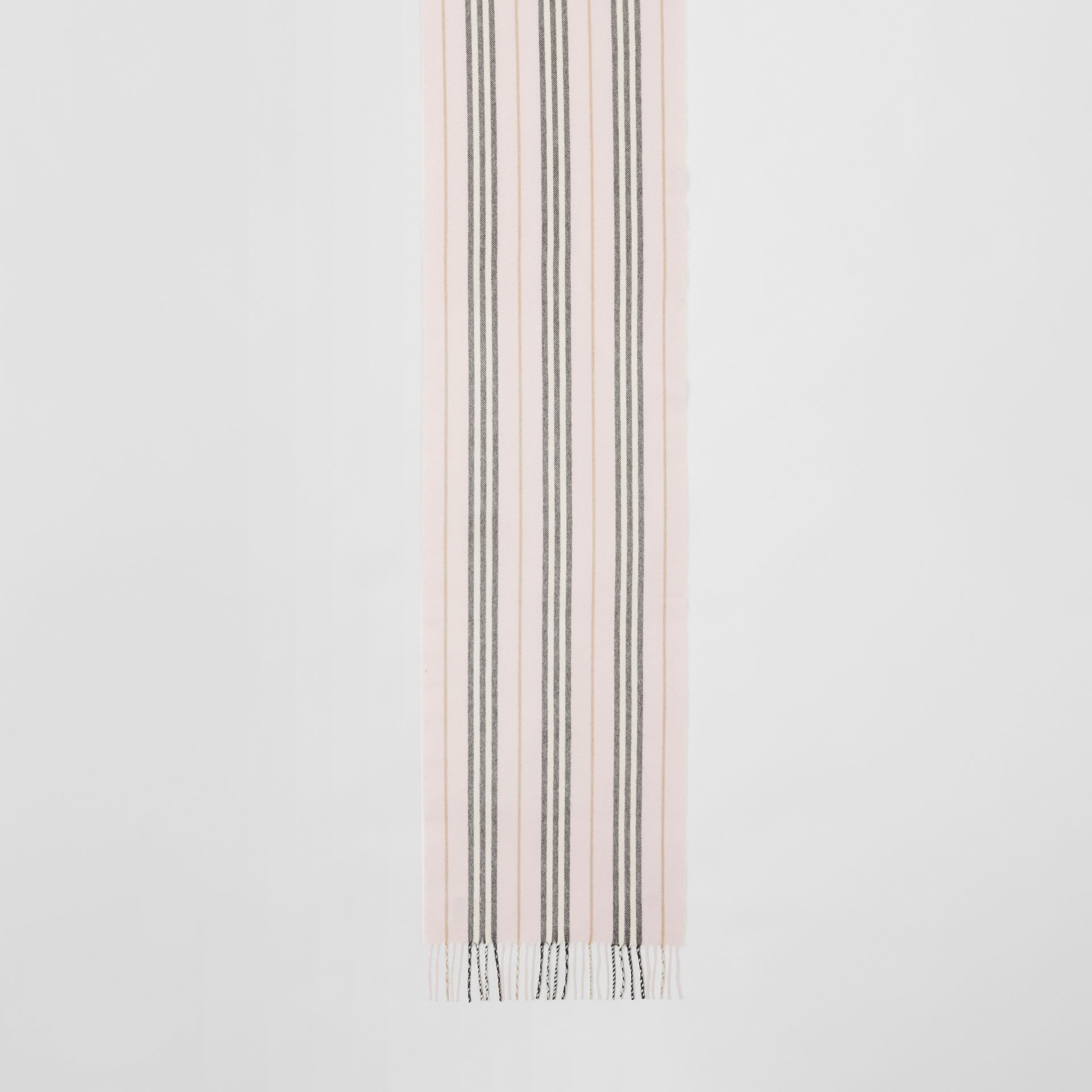 Icon Stripe Cashmere Merino Wool Scarf in Alabaster | Burberry - gallery image 2