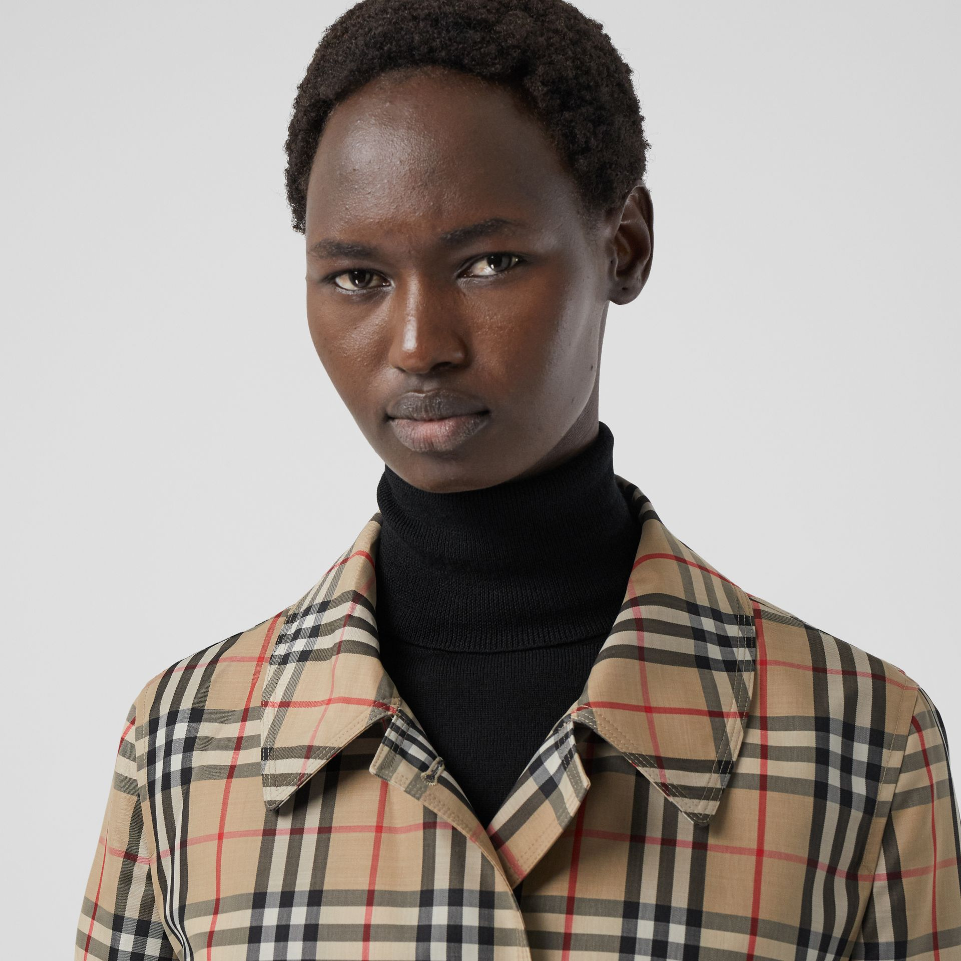 Vintage Check Recycled Polyester Car Coat - Women | Burberry Singapore - gallery image 4