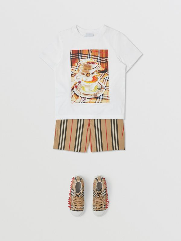 Teacup Print T-shirt in Multicolour | Burberry Canada - cell image 3