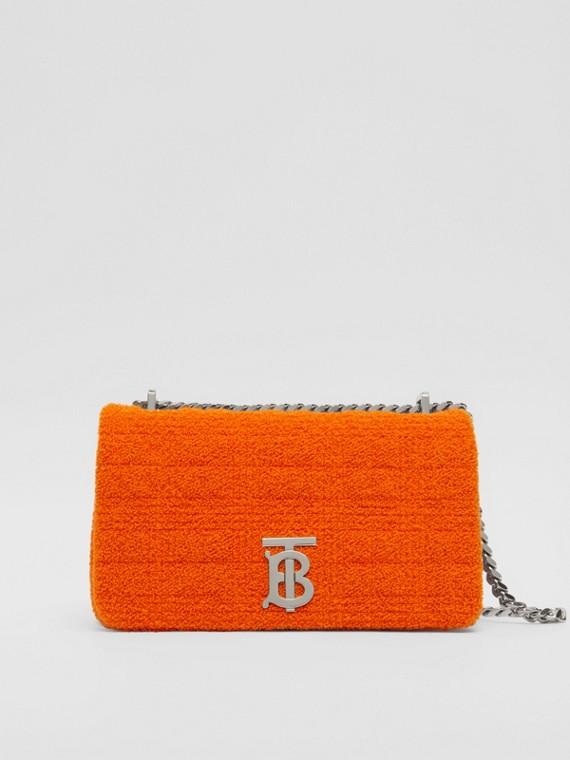 """Kleine Handtasche """"Lola"""" aus gestepptem Frottee (Leuchtendes Orange)"""