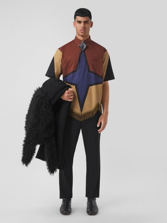 Grain De Poudre Wool Tailored Trousers in Black