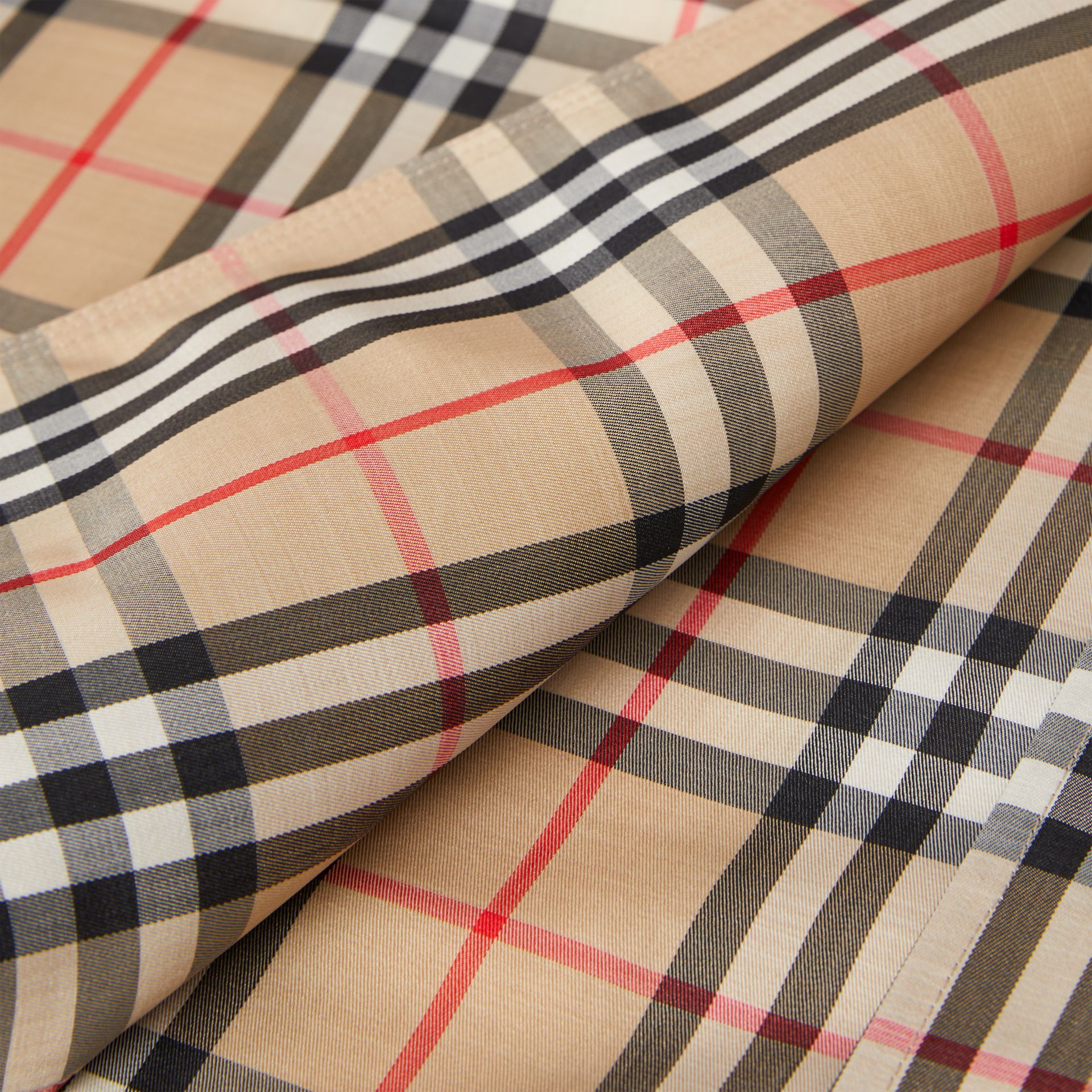 Vintage Check Recycled Polyester Car Coat - Women | Burberry Singapore - gallery image 10