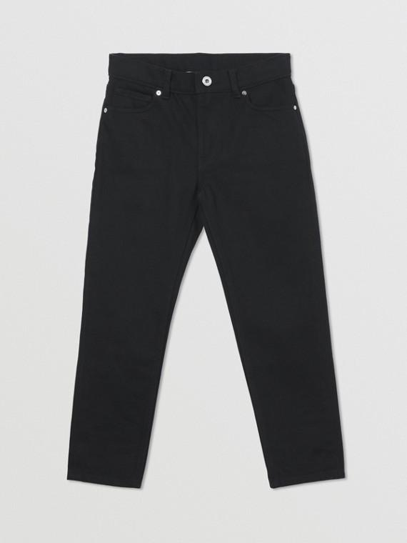 Calças de jeans japonês com logotipo (Preto)