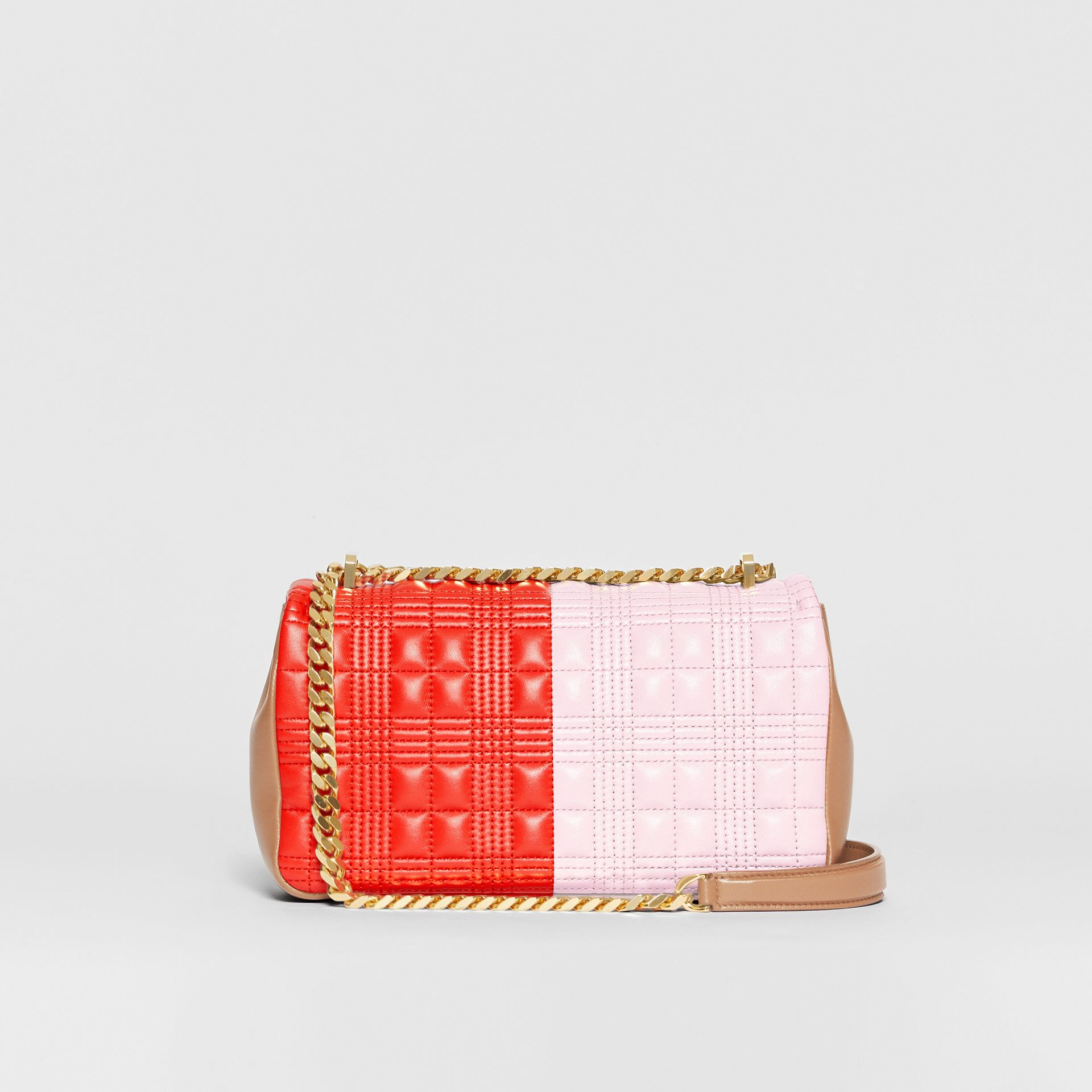 Small Quilted Tri-tone Lambskin Lola Bag in Red/pink/camel - Women | Burberry - gallery image 7