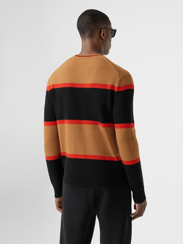 Striped Wool Cashmere Sweater in Black - Men | Burberry - cell image 2