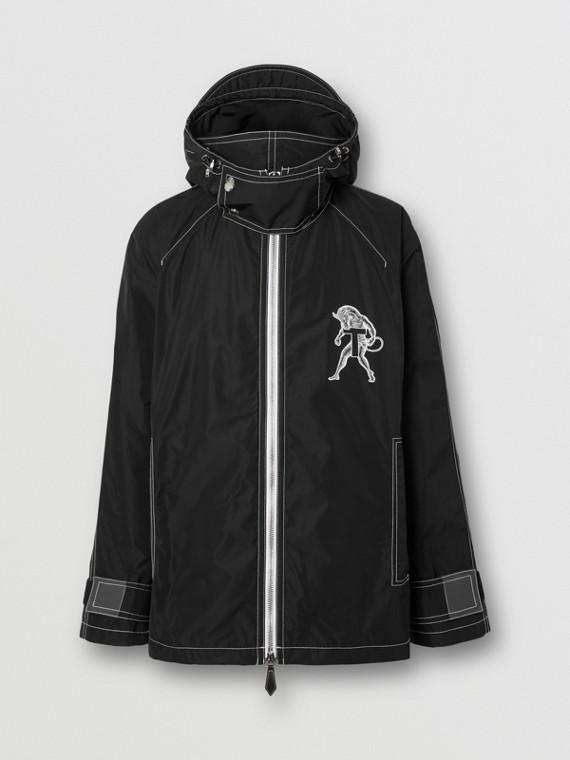 Mythical Alphabet Shape-memory Taffeta Jacket – Unisex in Black