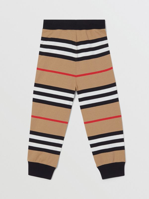Icon Stripe Cotton Trackpants | Burberry United Kingdom - cell image 2