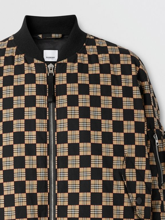 Chequer Cotton Bomber Jacket | Burberry United States - cell image 1