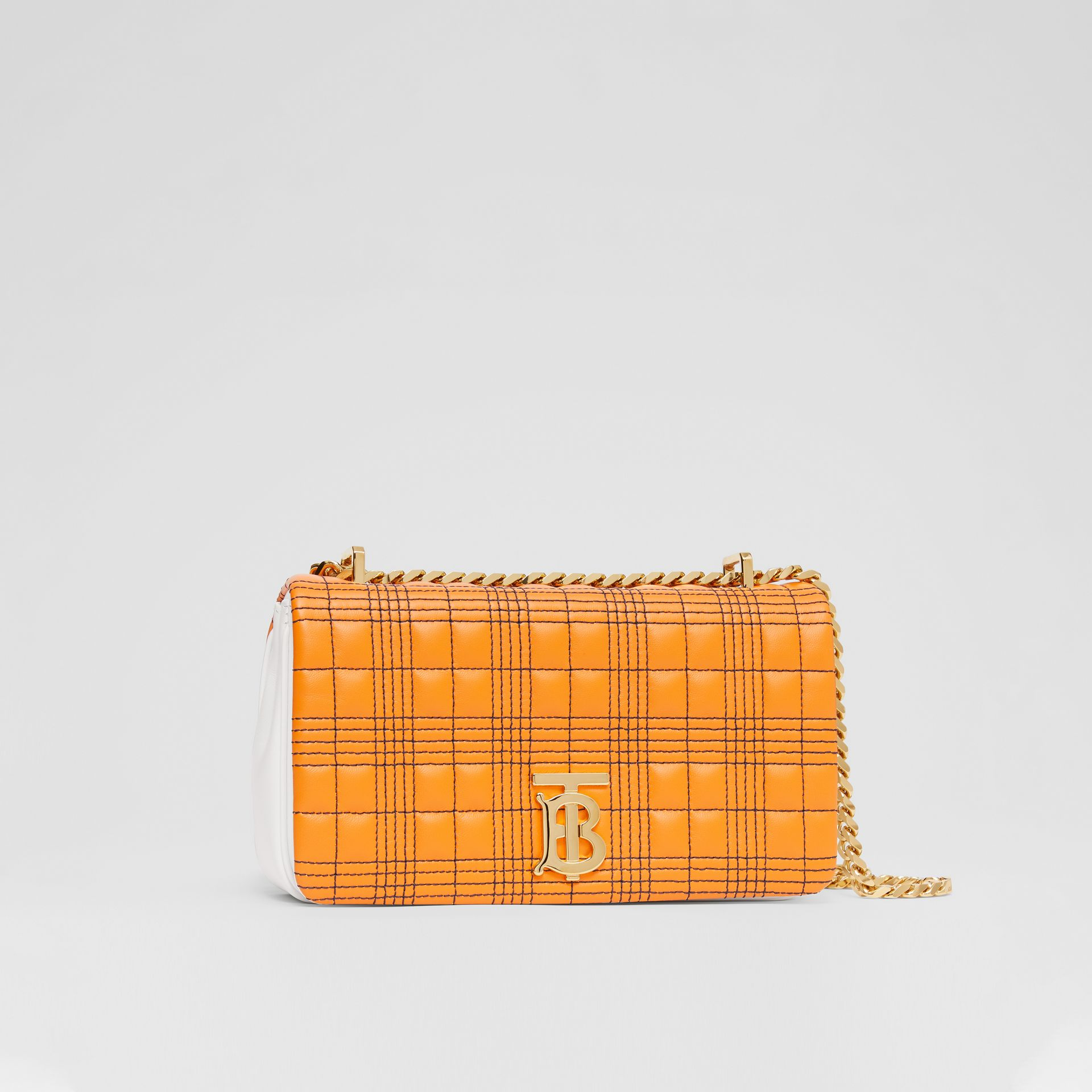 Small Quilted Tri-tone Lambskin Lola Bag in Orange/white - Women | Burberry - gallery image 6
