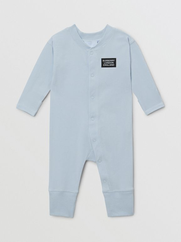 Check Trim Organic Cotton Three-piece Baby Gift Set - Children | Burberry United Kingdom - cell image 1