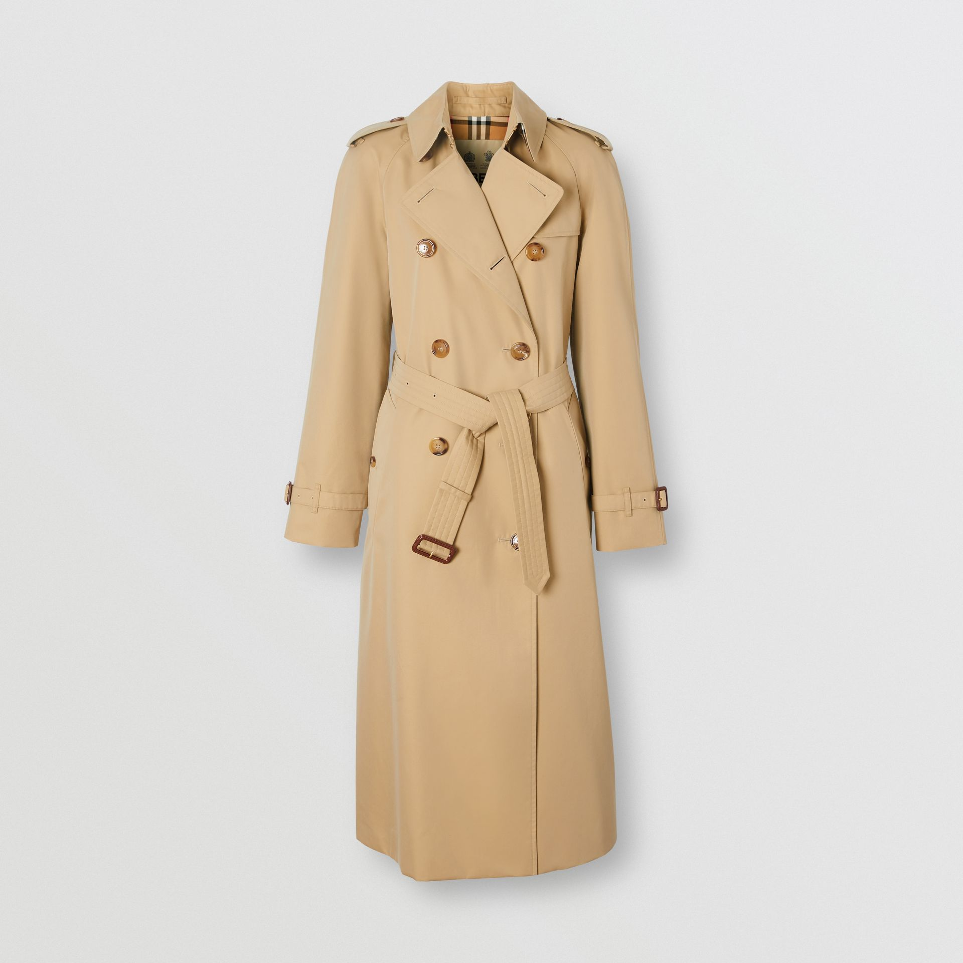 The Long Waterloo Heritage Trench Coat in Honey - Women | Burberry - gallery image 3